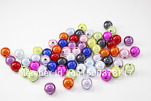 Freeshipping!100pcs/14mm Colored Round  Acrylic Beads Jewelry For & Necklace Findings