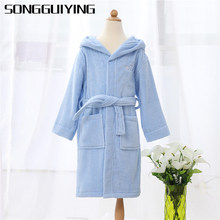 952585157e SONGGUIYING A195 Children Hooded Bathrobe Kids Boys Girls Cotton Bath Robes  Dressing Gown Kids Homewear Sleepwear