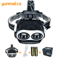 Led headlamp high light 2T6 linternas led recargable 4000 lumenes head light led lamp lanterna de cabeca for peasca camping