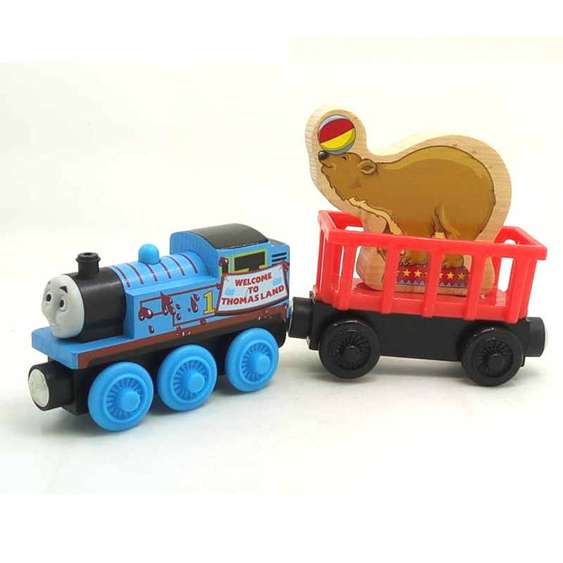 W25 welcome to thmas land RARE Thomas And Friends Acrobatics bear Wooden Magnetic Railway transportTrain Engine Track Boy Toy