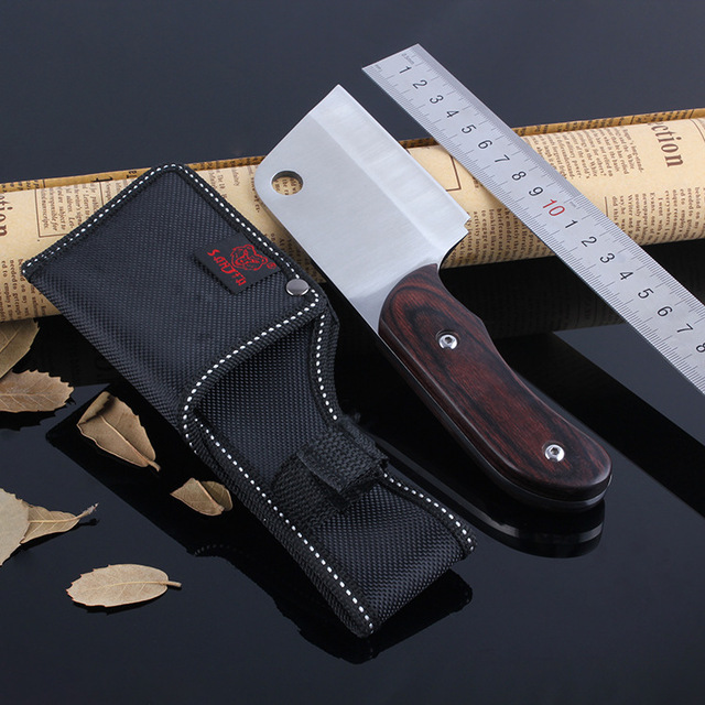 Camping font b Knife b font With Ebony Handle Outdoor Straight Kitchen font b Knife b