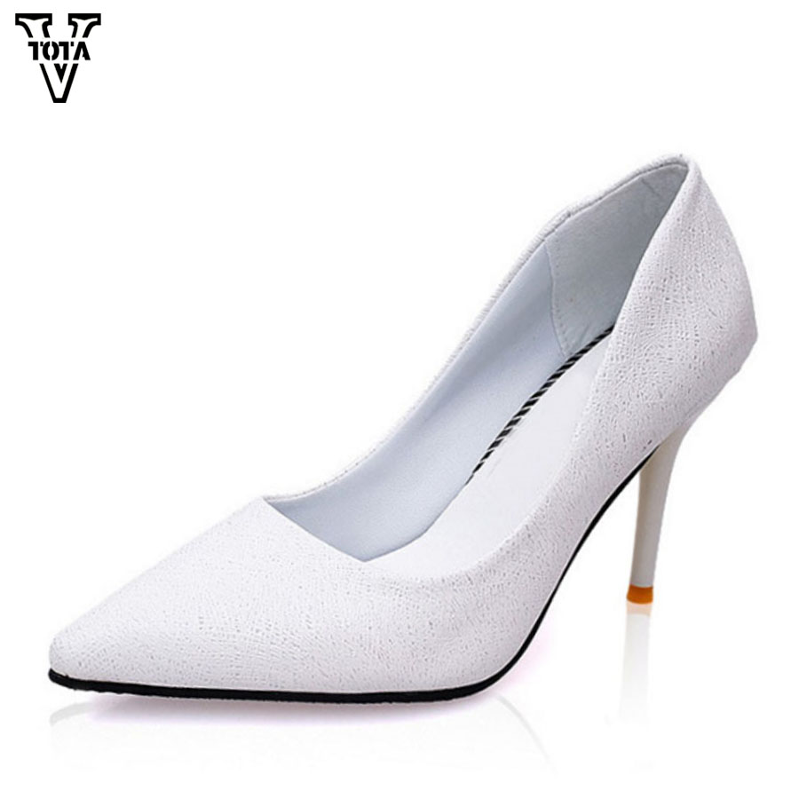 VTOTA High Heels Thin Heel women pumps OL Pumps Offical Shoes Slip On Shoes Woman Platform Shoes zapatos mujer Ladies Shoes G56