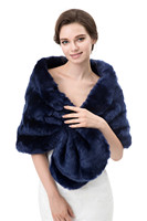 PJ7716 9 Colors Hot High End Women Winter Clothes Wedding Bride Faux Fur Shawl And Warm