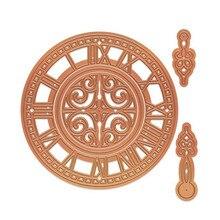 YaMinSanNiO Timepiece Metal Cutting Dies for Scrapbooking New 2019 Clock Die Cuts Card Making Circle Craft Embossing
