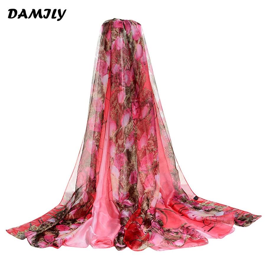 Sarong bufanda de la impresión del verano Rose arbustos grandes chal ...