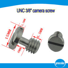 3/8″ UNC iron camera screw with Slotted Drives for tripod monopod ball head quick release plate for Arca Swiss for Manfrotto