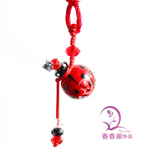 1PCS Murano Glass Car Aroma Freshener RED, perfume glass pendant  ,Aroma vials,Murano glass Essential Oil Bottle