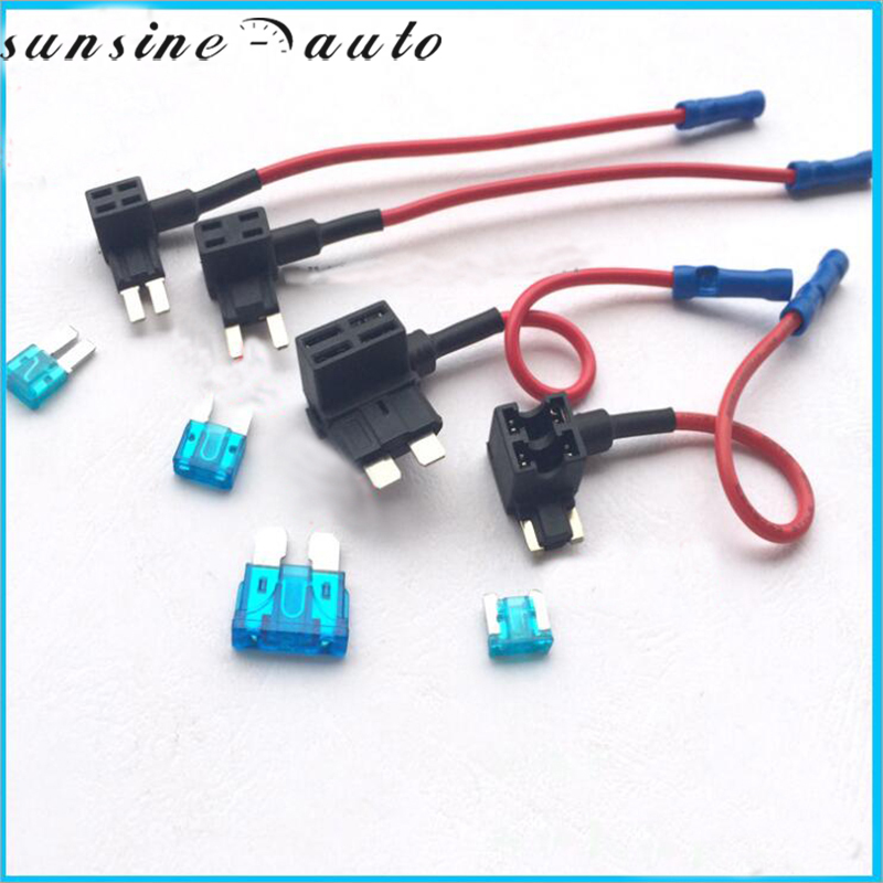 12V Fuse Holder Add-a-circuit TAP Adapter Micro/Mini/Standard ATM APM Blade Auto Fuse with 15A Blade Car Fuse with holder 15a fuse holder with 1 4 in tabs for henny penny ef02 006