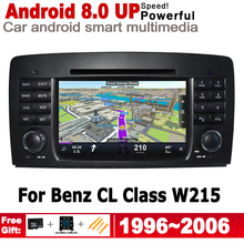 IPS Android 2 DIN Car DVD GPS For Mercedes Benz CL Class W215 1996~2006 NTG Navigation multimedia player Stereo radio WiFi 2 din android 9 0 px30 car radio for mercedes benz ml class w164 ml350 ml300 car multimedia player stereo audio gps dvd wifi ips