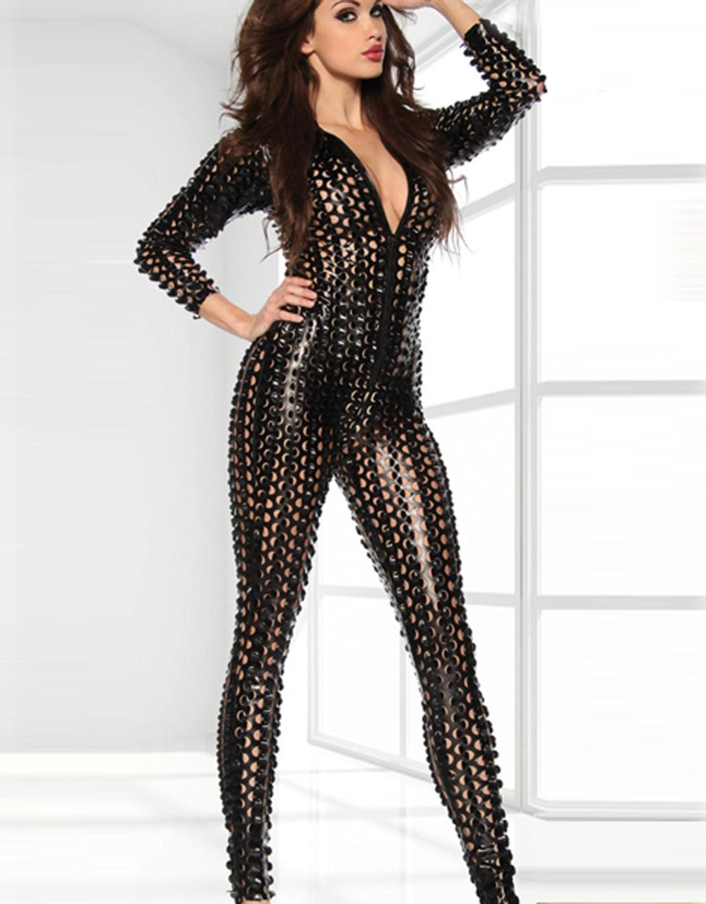Black-Metallic-Clubwear-Catsuit-with-Cutouts-W7711C-1(1)
