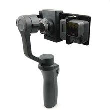 3D baskılı DJI OSMO Mobile 2 1 el Gimbal adaptörü tutucu dağı eylem kamera braketi GoPro Hero 6 için 5 4 3