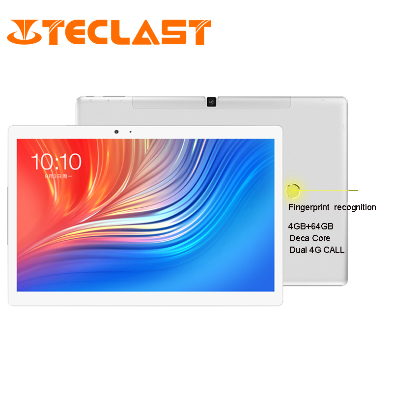 Teclast T20 Fingerprint Tablet PC MT6797 X27 Deca Core 4GB ROM 64GB RAM  4G Network 13.0MP 10.1 inch 2560*1600 GPS Android 7.0
