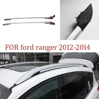 Car Roof Rack Side Rails Luggage carrier for Ford ranger 2012 2014 ABS Car Accessories Baggage Holder