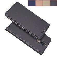 Nova 2i matte carteira flip caso capa para huawei nova 2i magnética adsorção caso de negócios coldre