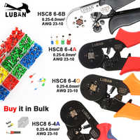 HSC8 6-6 0.25-6mm 23-10AWG Hexagon 6-4A 0.25-6mm 23-10AWG Quadrilateral Tube Bootlace Terminal Crimping Pliers Crimp Hand Tools