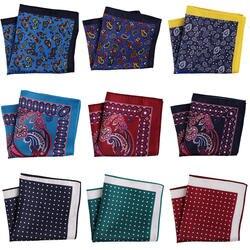Tailor Smith 2018 Стиль платки яркие красочные Paisley Pocket Square Винтаж носовые платки мужские карманные модные аксессуары
