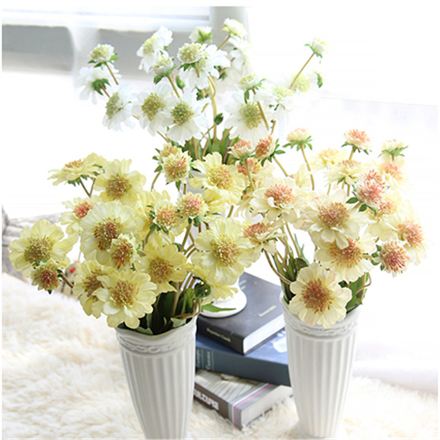 6pcs Lot White Artificial Flower Windmill Orchid For Home Garden Indoor Plants Wedding Bouquet Table Party Decoration