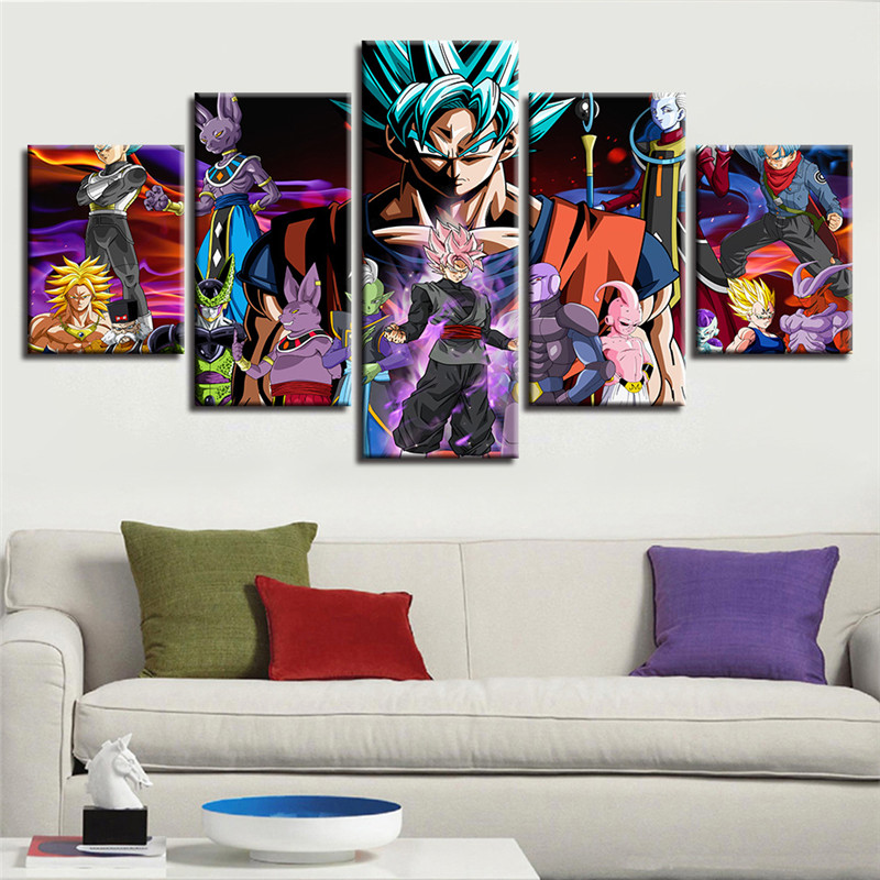 """DragonBall Warrior Home Decor HD Canvas prints Picture Wall art Painting 16/""""x18/"""""""