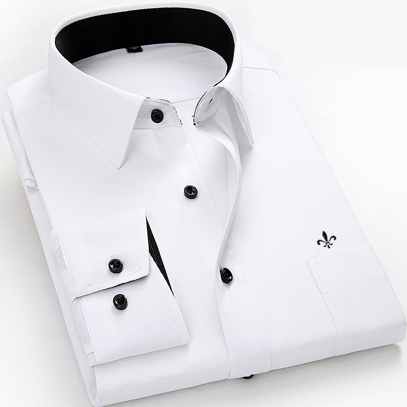 Image 3 - Dudalina Men Long Sleeved Shirt Slim Fit Style Design Solid Color Business Casual Dress Shirt Male Social Brand Men Clothing-in Casual Shirts from Men's Clothing