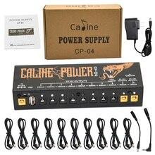 Caline CP 04 guitarra pedal fonte de alimentação 10 saída isolada sintonizador de energia curto circuito/sobre proteção atual efeito guitarra potência