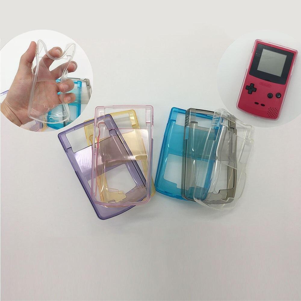 Transparente TPU Caso Protetor Para Nintendo GBC Console Gamepad Acessórios de Proteção Shell Clear Case Capa Nintend 4 cores