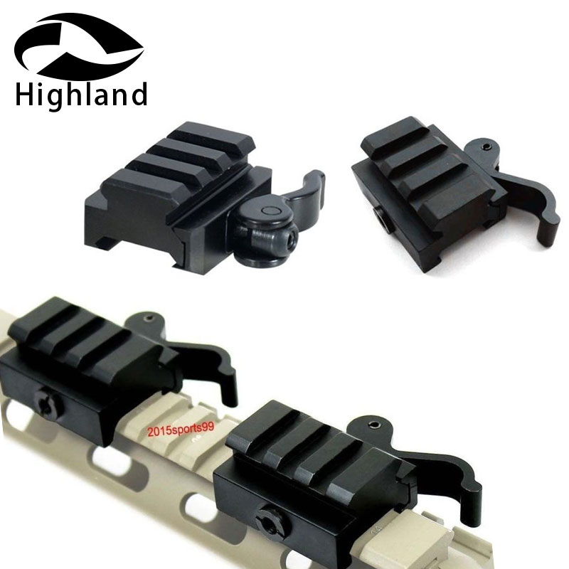 Hunting Rifle Scope Mount 2x Quick Detach Release Half Inch 1/2
