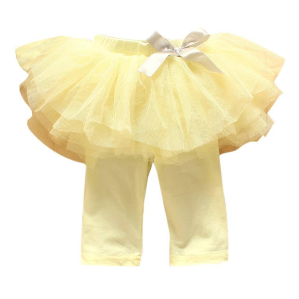 Princess-Girl-Kids-0-3Years-Culottes-Leggings-Gauze-Pants-Party-Bow-Tutu-Skirts-Hot-5