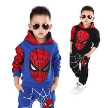 2016 kids spiderman cosplay clothing sets children costume fashion cartoon summer shirt pants boys tees pants suit