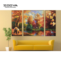 ZOOYA Diamond Embroidery 5D DIY Diamond Painting Scenic Forest Bear 3PCS Diamond Painting Cross Stitch Rhinestone