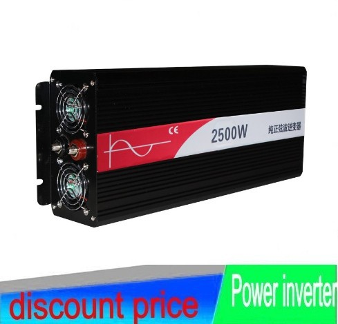 2500W Off Grid inverter 48V DC to AC 100-120V or 220-240V, Pure Sine Wave Solar Wind Power Inverter 2500W with 5000W Peak Power