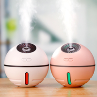 4 in 1 air humidifier usb home aroma diffuser mini ultrasonic aroma humidifier diffuser with LED light fan to charge the phone