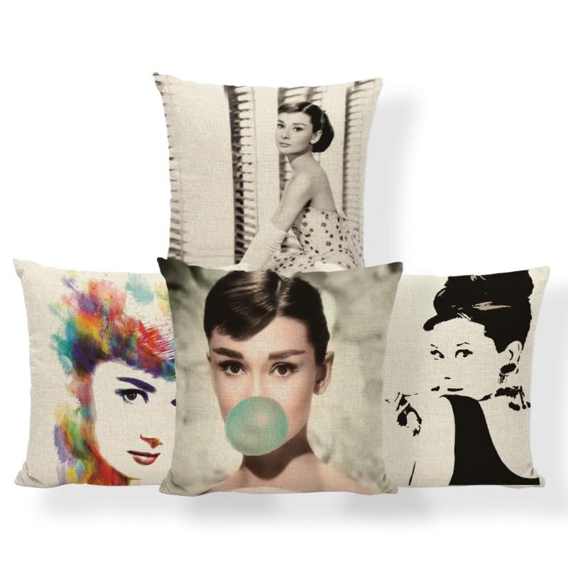 Audrey Hepburn Kissen Schauspieler Vereinigten Königreich Kissen
