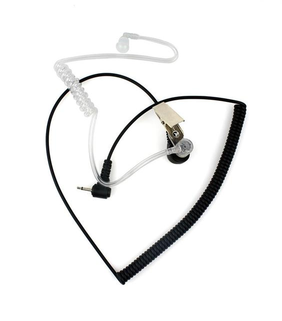 Brand New 2 5mm Mono Jack Listen Only Acoustic Tube Earpiece Headset