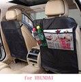 Para hyundai tucson 2016 solaris i30 ix35 acento negro a prueba de agua asiento trasero del coche tapete protector de Cubierta de la Caja Niños Esteras Patada limpia