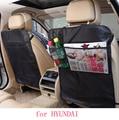 Para hyundai tucson 2016 solaris sotaque i30 ix35 preto à prova d' água assento de carro voltar protector Caso mat Capa Crianças Esteiras Pontapé limpo