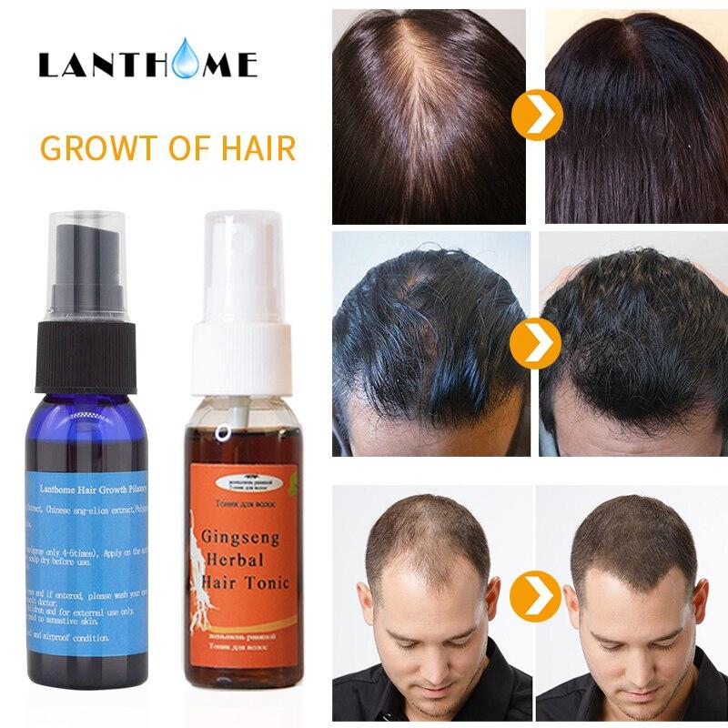 2pc Herbal Hair Tonic Spray Baldness Anti Hair Loss Treatmen