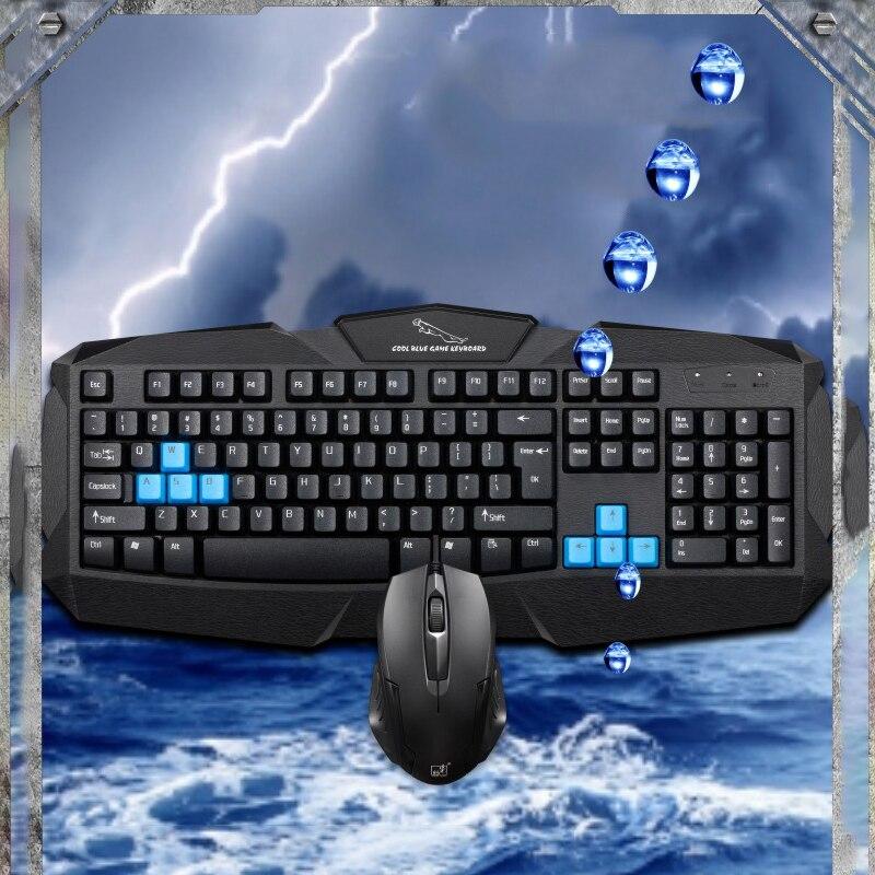 100% оригинал игровая клавиатура костюм USB Проводная клавиатура Мышь комбинации для настольного компьютера PC Мышь комплект для мужчин и женщ...