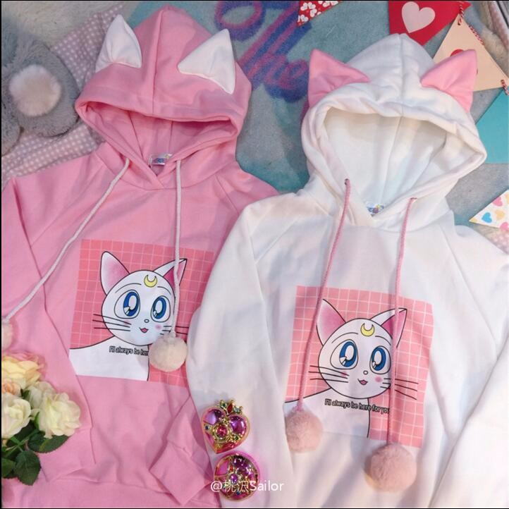 HTB1XzlLOVXXXXXPapXXq6xXFXXXJ - Sailor Moon Luna cat Hooded PTC 31