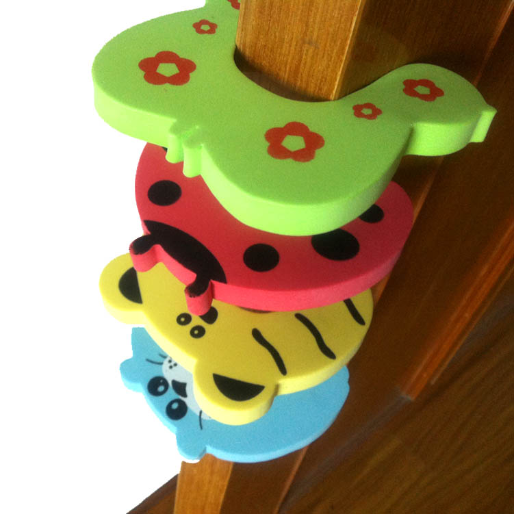 10pcs/lot Corner Protector Baby Safety Slam Stop Cartoon Animal Jammers Stop Edge Corner Guards Door Stopper Child Lock Safety