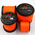 8 Strands 100M 300M 500M 1000M 1500M 2000M Orange Braided Fishing Line Sea Saltwater Fishing Weave Extreme 100% PE Hercules
