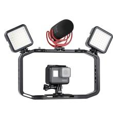 Ulanzi m rig all in 1 알루미늄 핸드 헬드 vlog 안정기 설정 비디오 장비 w 마이크 iphone fillmakers 용 콜드 슈 마운트