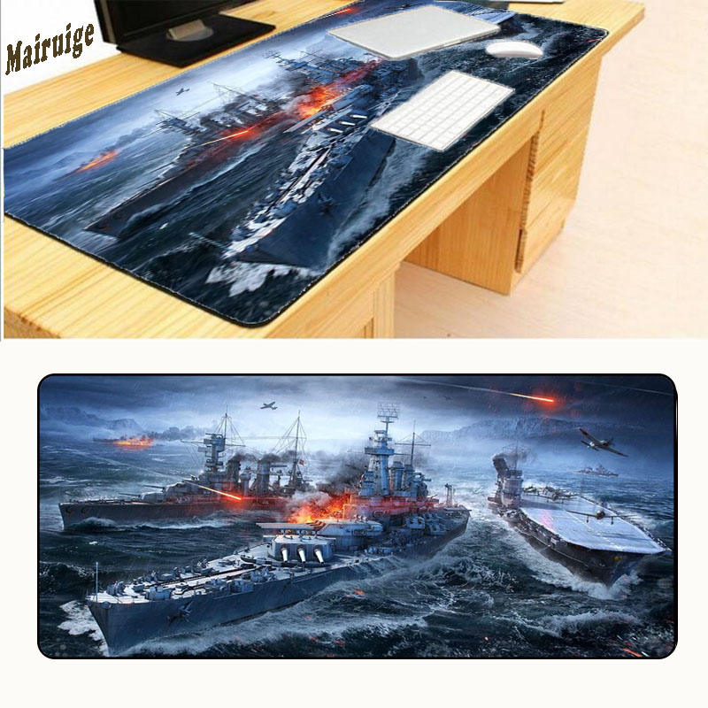 Mairuige Warship Mouse Pads High Quality Durable Large Gaming Anti-slip Pad To Notebook Computer Mousepad Boy Gift Optical 90*40