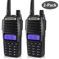 2ピースptt baofeng uv-ポータブルラジオ10キロメートルトランシーバーデュアルプロフェッショナルアマチュア無線communicadorトランシーバーbaofeng uv-