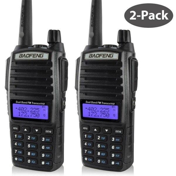 2 pcs PTT Baofeng UV-82 Portable radio 10 KM Talkie Walkie Double Professionnel Ham radio communicador talkie walkie baofeng uv-82
