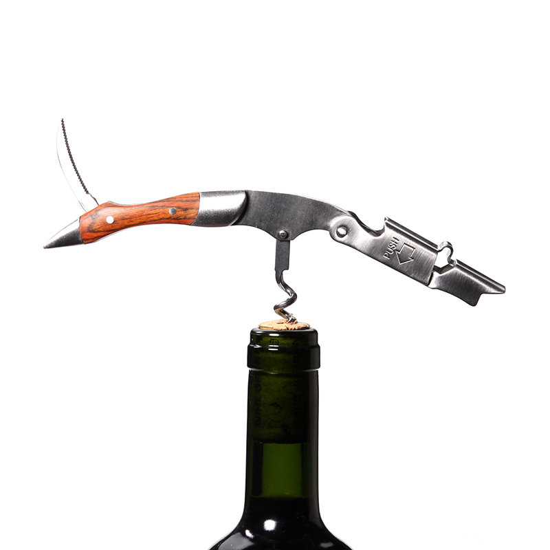 Wine Opener, Professional Waiters Corkscrew, Bottle Opener and Foil Cutter Gift for Wine Lovers