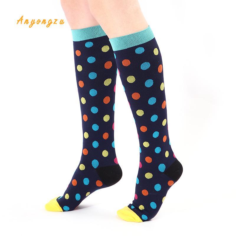 Image 4 - 2018 European And American Elastic Compress Stockings Nylon Nurse Professional Pressure Long Legs Women Stocking 5pair/lot-in Stockings from Underwear & Sleepwears on AliExpress