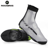 ROCKBROS Lycra Bike Shoes Cover Unisex MTB Reflective Cycling Bicycle Overshoes Waterproof Windproof Warm Shoe Cover