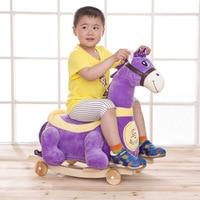 Animal Children Rocking Chair Trojan Horse Wheel Can Move ChildrenToy