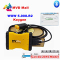 Newest Software WOW 5.00.8 R2  Plus 3 In 1 Diagnostic Tool Support 14 Kinds Of Languages MVD Better Than TCD CDP Pro