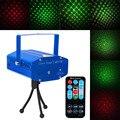 Mini Proyector de DJ Disco Club Etapa de Luz Láser estroboscópico Auto, sonido/Función de Control de Voz Activado Por Voz Verde Rojo con Mando A Distancia